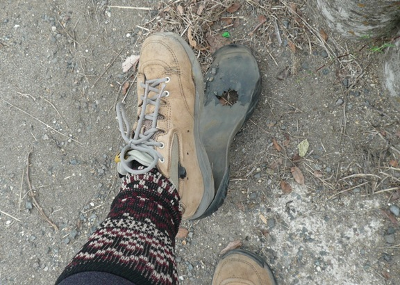あっちゃんからの貰いものの靴でした。