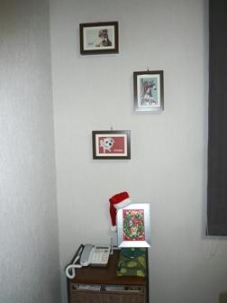 TDCのクリスマスカードを作った時に使用した、サンタ帽で演出♪