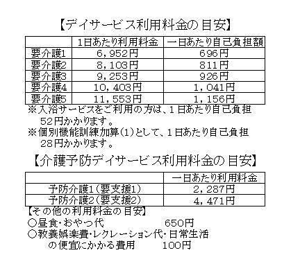 利用料金表2