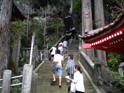 本道への階段