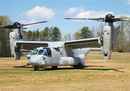 垂直離着陸輸送機MV22オスプレー