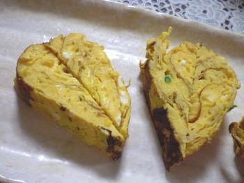 ハートの卵焼き