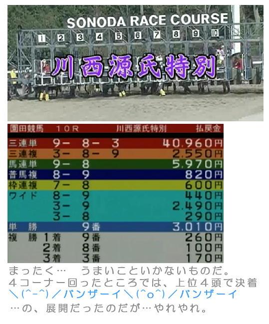 川西源氏特別の結果