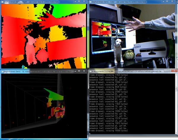 Kinectサンプルプログラムの実行