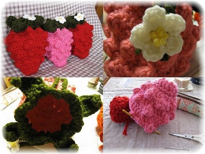 _巾着です編み苺