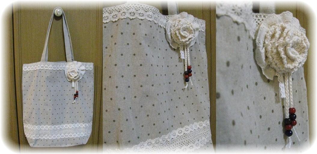 _コットン毛糸のコサージュ試作