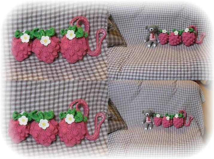 ミニミニ編みイチゴ