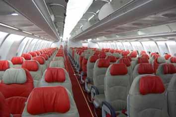 A330-300型機のエコノミークラス