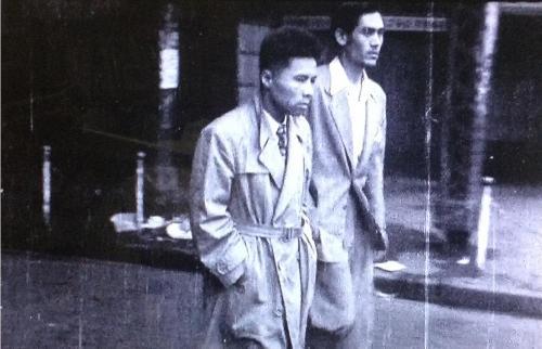 1952年 殺人容疑者 玉電橋脚 井の頭線入口階段