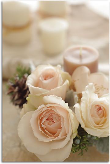 薔薇とキャンドル