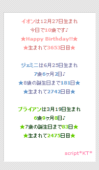 Happy Birthday!!