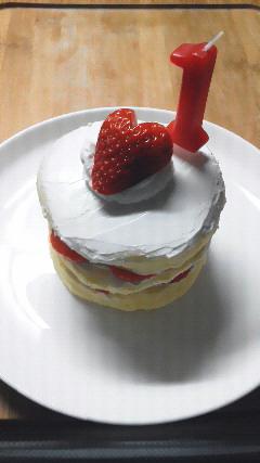 1歳誕生日ケーキ3