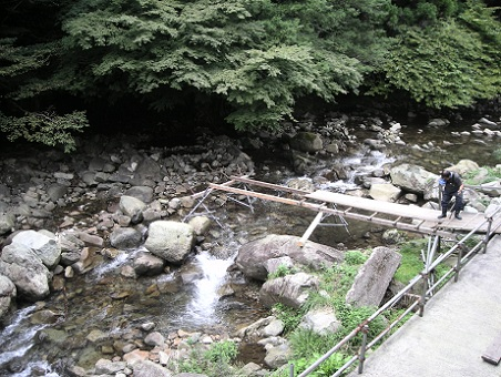 川床橋撤去