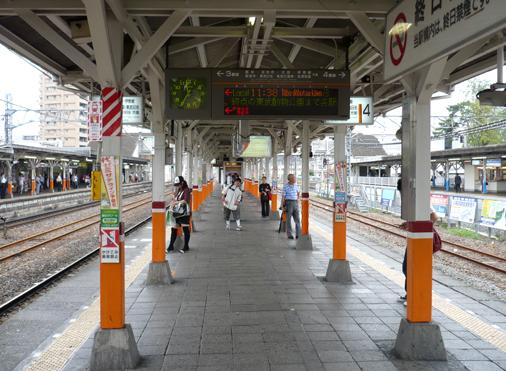 らき☆すた聖地巡礼 春日部駅ホーム
