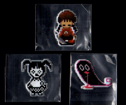 ゆめにっき ぷっくりゆめシールコレクション 窓付き(包丁)、モノ子A、ピンクのお化けセット