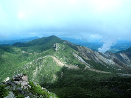 16久住山山頂より P7154490