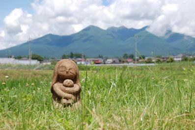 マリア像と八ヶ岳2