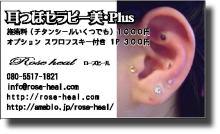 プチ癒しフェスタ公式ブログ-耳つぼセラピー美Plus ローズヒール