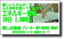 プチ癒しフェスタ公式ブログ-エネルギー整体 ハート 神田