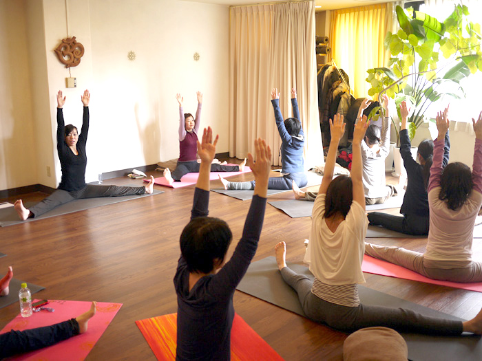 ハタヨガ&瞑想特別実践講座風景