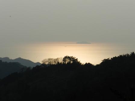 谷上山から見た夕景