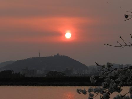 松山城と夕景 1