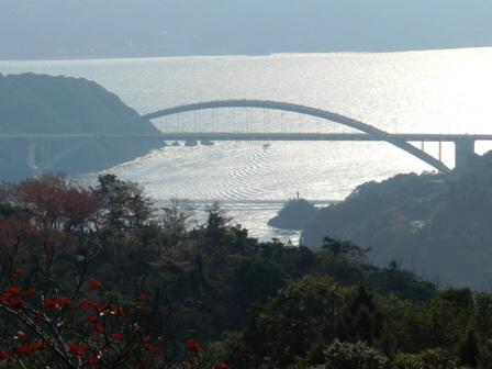 開山公園 紅葉と大三島橋 3