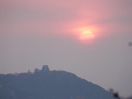 松山城と夕景 3