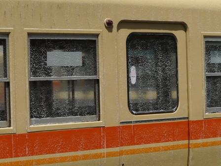 伊予鉄道・古町駅 洗車風景 3