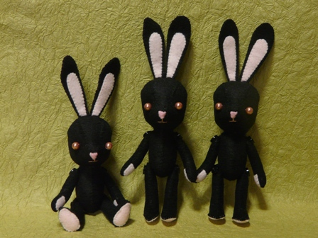 フェルトの黒ウサギさん 3