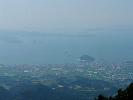 高縄山 展望台からの眺望 1