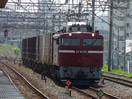 JR南流山駅 EF81-80 貨物列車 1