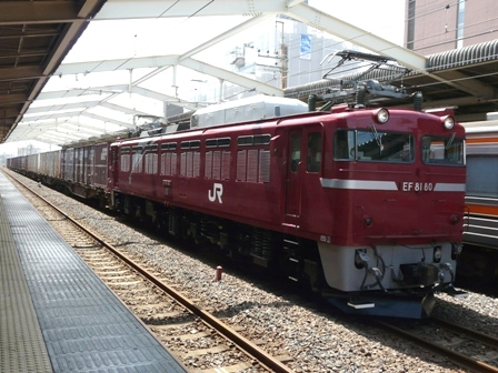 JR南流山駅 EF81-80 貨物列車 2