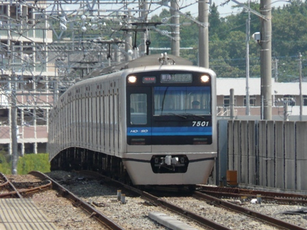東松戸駅 北総鉄道 7500形 羽田空港行