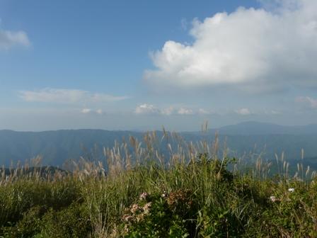 塩塚高原展望台から 2