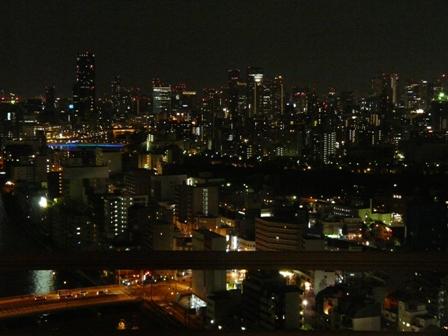 大阪のホテルからの夜景 1