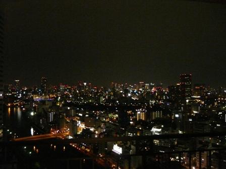 大阪のホテルからの夜景 2