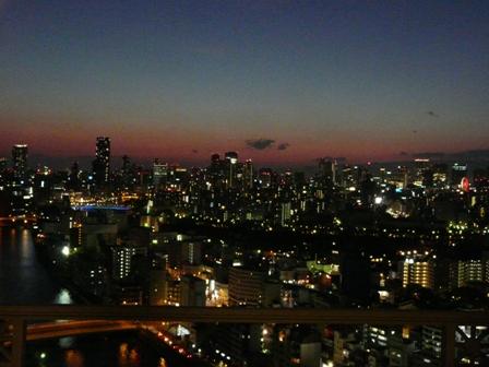 大阪のホテルからの夕景 2