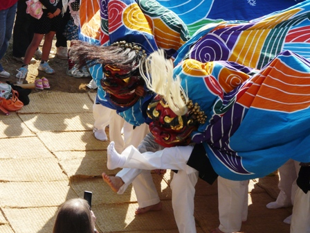 菊間祭り 獅子舞 4