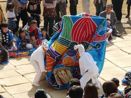 菊間祭り 獅子舞 6
