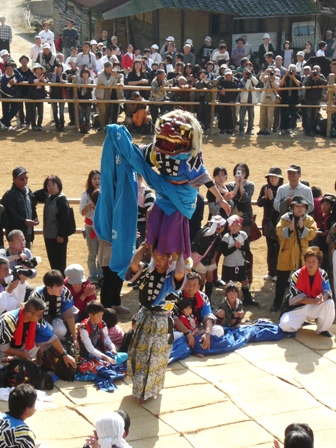 菊間祭り 獅子舞 8