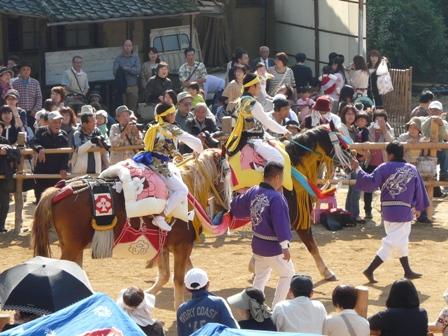 菊間祭り お供馬の走りこみ 1