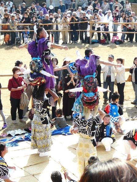 菊間祭り 獅子舞 11