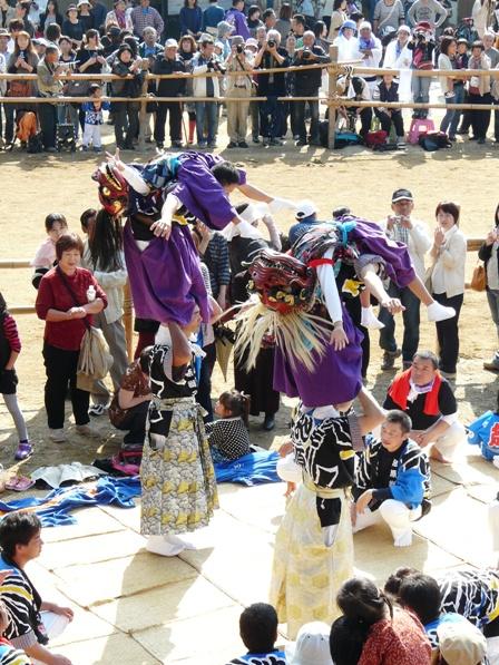 菊間祭り 獅子舞 10