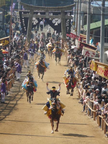 菊間祭り お供馬の走りこみ 8