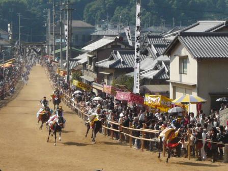 菊間祭り お供馬の走りこみ 3