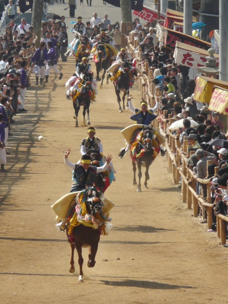 菊間祭り お供馬の走りこみ 9