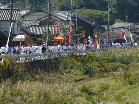 菊間祭り 御旅所へ神幸行列 1