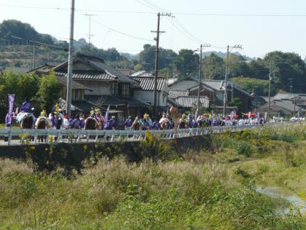 菊間祭り 御旅所へ神幸行列 2