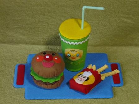 アンパンマンとハンバーガーキッドのハンバーガーセット 8
